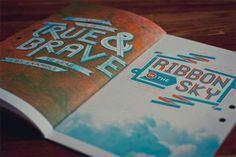 SerialThriller™ #print #layout #ribbon #sky