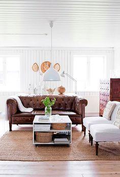 scandinavian white home living room