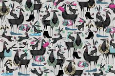 Wrap magazine #collar #pattern #illustration #animals #rabbit
