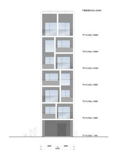 Apartment in Katayama ~ Elevation, Section and Floor Plans – WHAT WE DO IS SECRET #elevations #drawings #facades #towers #architecture #japan #housing