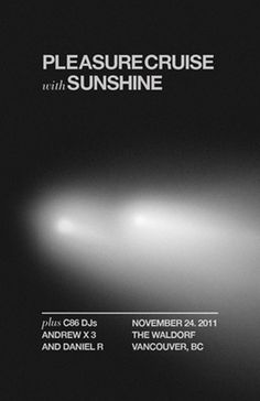 Pleasure Cruise & Sunshine #vancouver #sunshine #design #the #cruise #poster #pleasure #waldorf