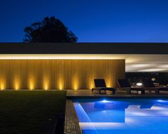 Long and Low Concrete House in Brazil