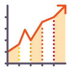 See more icon inspiration related to growth, diagram, arrow, statistics, business, benefits, stats and graphics on Flaticon.
