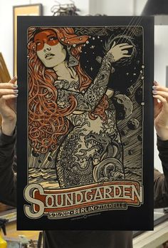 GigPosters.com - Soundgarden #music #illustration #poster