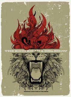 Kafka For Lovers #flame #lion #poster