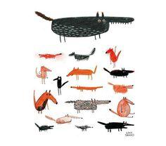 Foxes and Wolves Erica Salcedo Illustration potfolio #wolf #illustration #fox