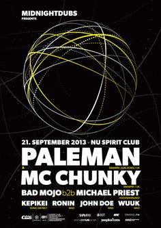midnight poster #midnight #paleman #poster #midnightdubs #chunky #mc