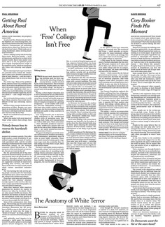 NYTimes OpEd | How even free tuition will leave many low income students in debt *NYTimes Best of Illustration 2019 #illustration