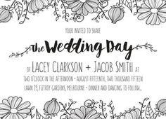 Daisy Chain - Engagement Invitations #paperlust #engagement #engagementinvitation #invitation #engagementcards #engagementinspiration #wedd