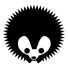 2.28.11 | A Dingbat Ate My Baby! #white #icon #black #identity #symbol #hedgehog #and #dingbat #logo #typography
