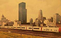 vintage postcard turbo canadian national railways canad #trains #vehicles