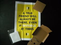 A True Friend Digital Print by SeventySevenDesign on Etsy #packaging #inspirational #poster