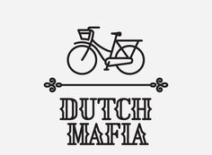 Dutch Mafia logo design by Michael Nÿkamp #font #mafia #fender #basket #bike #numbers #type #dutch