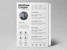 Free Clean PSD Resume Template for Any Job Opportunity