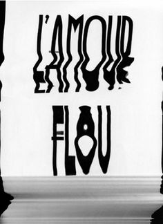 L'amour flou — Trend List #print #scanned #love #typography