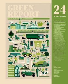 IL 23 - 24 Miti da sfatare | Flickr - Photo Sharing! #green #sfatare #da #laura #illustration #franchi #cattaneo #layout #mita #issues #magazine #francesco