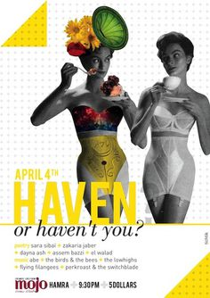 haven for artists on Behance #design #graphic #vintage #poster #art #music #collage #beirut