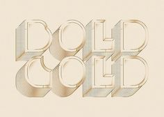 Bold gold by Vian Peanu #technique #lettering #design #graphic #craftsmanship #quality #typography