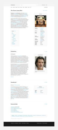 Wikipedia Redesign #redesign #web #wikipedia #typography