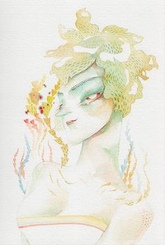 Vero Meignaud #woman #illustrator #paint #illustration #watercolor