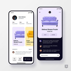Social furniture app concept. 🚀 📱