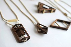 Sticks + Stones Simone Ferkul #wood #jewelry #necklace