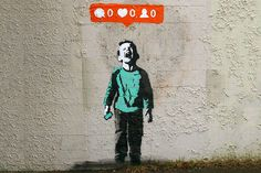 Street Art Shows Social Media Culture Through Graffiti #instagram #graffiti #facebook #hashtag #art #street #media #social