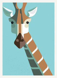 Giraffe Portrait #illustration #giraffe #lumadessa