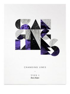 Changing Lines's Photos - Wall Photos #illustration #type #poster #changing lines #basic shape
