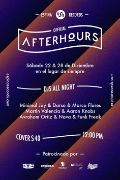 After Hours #poster #music #flyer #party #electronic #mxico #sonora #djs