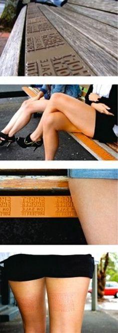 smart-advertising-space-bench-skin-imprint.jpg (400×1127) #pressure #guerrilla #ad #marks