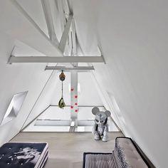 Artistic penthouse modern white loft