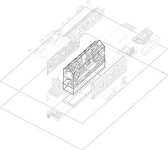 Massive Infra-Structural Furniture / Michael Miller #architecture #drawing