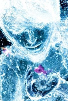 Aqua on the Behance Network #water #photo #fish #person #hand