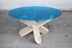 DING3000 PRODUCT DESIGN - JOIN TABLE #wood #blue #product design #table #product #cyan #ding 3000 #join