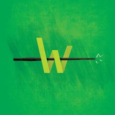 Wizards #typography #design #wand #illustration #art #magic #wizards #green
