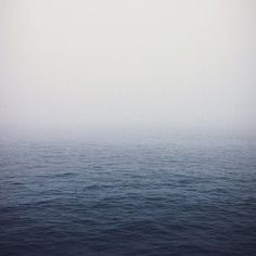 Photo by chromanaut #ocean #fog #water #infinity #blue