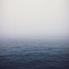 Photo by chromanaut #ocean #fog #water #infinity #blue