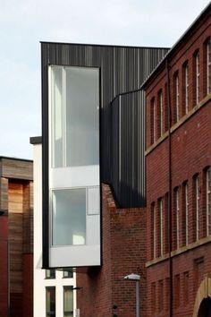 Lyla & Blu #white #black #extension #wood #building #architecture