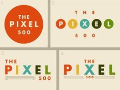 FFFFOUND! | Dribbble - The Pixel 500 logo ideas by Matt Scribner #design #graphic