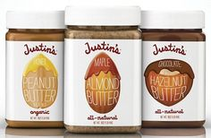 Justin's Nut Butter : Lovely Package® . Curating the very best packaging design. #branding #packaging #design #graphic #illustration