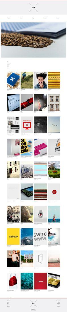 www.isusko.es on Behance #minimal #grid #webdesign #clean design