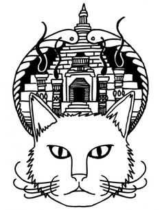 He Ent to the Blog : 1 of 4 #temple #ink #randolph #cat #drawn #studio #pen #and #logo #hand