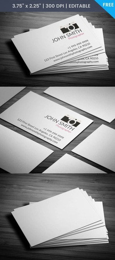 Free Creative Photography Business Card Template