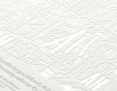 Description #print #type #letterpress #invite #blind emboss