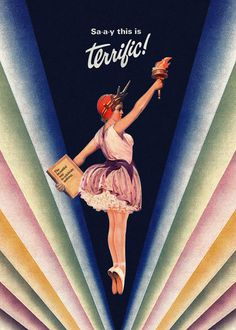 #vintage #poster #print #art #terrific #ballerina #freedom