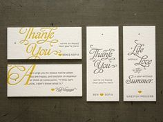 Thank You #letterpress #card