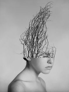 Monochrome Monday with Alexandra Bellissimo I Art Sponge #conceptual #photography #portrait #bellissimo #alexandra #collage