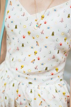playful print #fashion #bugs #pattern #dress
