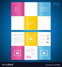 Image result for trifold brochure squares